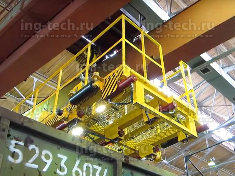Установка для правки верхней обвязочной рамы полувагонов УП-2М